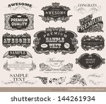 retro calligraphic design... | Shutterstock .eps vector #144261934