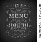 chalk  typography  calligraphic ... | Shutterstock .eps vector #144261958
