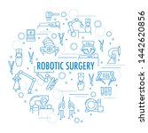 robotic surgery banner in... | Shutterstock . vector #1442620856