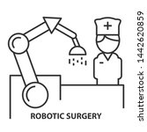 nurse on robotic surgery in... | Shutterstock . vector #1442620859