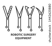 quipment for robotic surgery in ... | Shutterstock . vector #1442620880