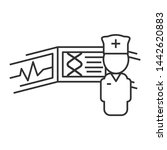 doctor near medical screen.... | Shutterstock . vector #1442620883