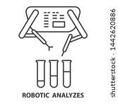 robotic analyzes line icon.... | Shutterstock . vector #1442620886