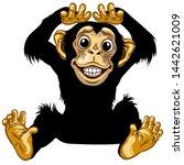 cartoon chimp ape or chimpanzee ...