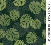 green seamless pattern with... | Shutterstock .eps vector #1442647643