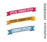 special summer offer   sale... | Shutterstock .eps vector #1442658506