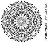 mandala retro lace vector... | Shutterstock .eps vector #1442665466