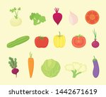 vegetable set collection with... | Shutterstock .eps vector #1442671619