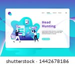 landing page headhunting vector ...