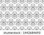seamless geometric pattern... | Shutterstock .eps vector #1442684693