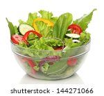delicious salad on a bowl... | Shutterstock . vector #144271066