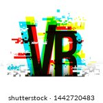 virtual reality word concept.... | Shutterstock .eps vector #1442720483