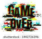creative letters of game over... | Shutterstock .eps vector #1442726396