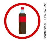 red label bottle icon  vector...   Shutterstock .eps vector #1442757320