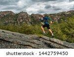 Male Runner Running On A...