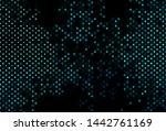 dark blue vector template with... | Shutterstock .eps vector #1442761169