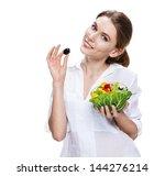buxom european woman  ... | Shutterstock . vector #144276214