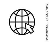 internet line art icon vector...