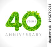 40 th anniversary numbers. 40... | Shutterstock .eps vector #1442790083