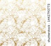 vintage gold flower pattern... | Shutterstock .eps vector #1442793773