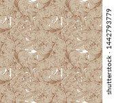 vintage flower pattern... | Shutterstock .eps vector #1442793779