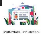 medical insurance illustration  ... | Shutterstock .eps vector #1442804273
