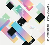 geometric design. bright... | Shutterstock .eps vector #1442806259