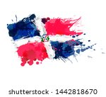 flag of dominican republic made ... | Shutterstock .eps vector #1442818670