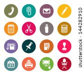 office supplies icons set | Shutterstock .eps vector #144282910
