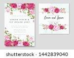 beautiful wedding invitation...   Shutterstock .eps vector #1442839040