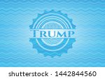 trump light blue water badge....
