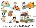 funny vacation related cartoon... | Shutterstock .eps vector #1442848313