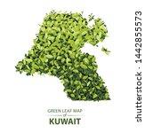 kuwait map made up of green... | Shutterstock .eps vector #1442855573