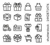 gift box  present  discount... | Shutterstock .eps vector #1442871476