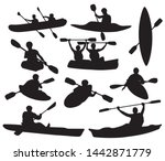 set of silhouettes of people... | Shutterstock .eps vector #1442871779