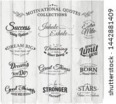 bundle set vector motivational... | Shutterstock .eps vector #1442881409
