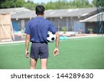 back of a football referee... | Shutterstock . vector #144289630