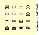 letter symbols and pictograms | Shutterstock .eps vector #144291418