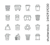 Trash Can Related Icons  Thin...