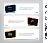 abstract web banner template ... | Shutterstock .eps vector #1442933153