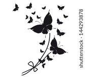 butterflies design | Shutterstock .eps vector #144293878