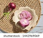 closeup of purple onion on top...
