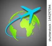 Illustration Of Airplane Aroun...