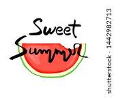 summer design sticker with... | Shutterstock . vector #1442982713