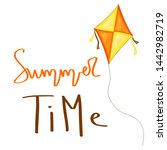 summer design sticker with... | Shutterstock . vector #1442982719