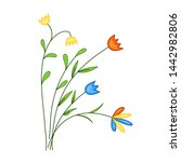 flowers field  a bouquet of...   Shutterstock . vector #1442982806