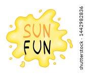 summer design sticker with...   Shutterstock . vector #1442982836