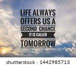 inspirational motivation quote...   Shutterstock . vector #1442985713