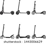 electric scooter icon set....   Shutterstock .eps vector #1443006629