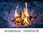fire on beach | Shutterstock . vector #144301678